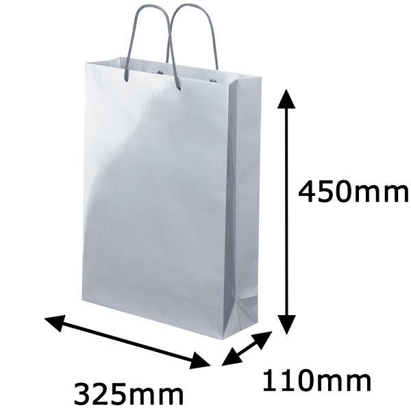 丸紐 手提げ紙袋 シルバー L 30枚