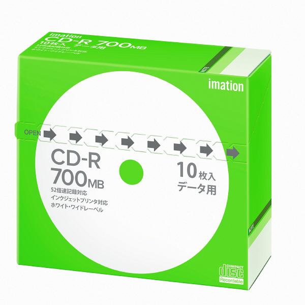 イメーション データ用CD-R 5mmケース インクジェットプリント対応 1パック(10枚入)
