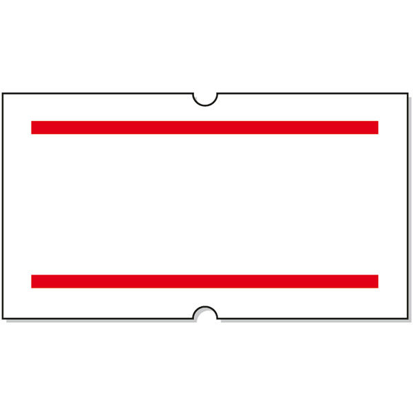 「現場のチカラ」サトー ハンドラベラー用パンチラベル 赤2本線 1セット(40巻:20巻入×2箱)