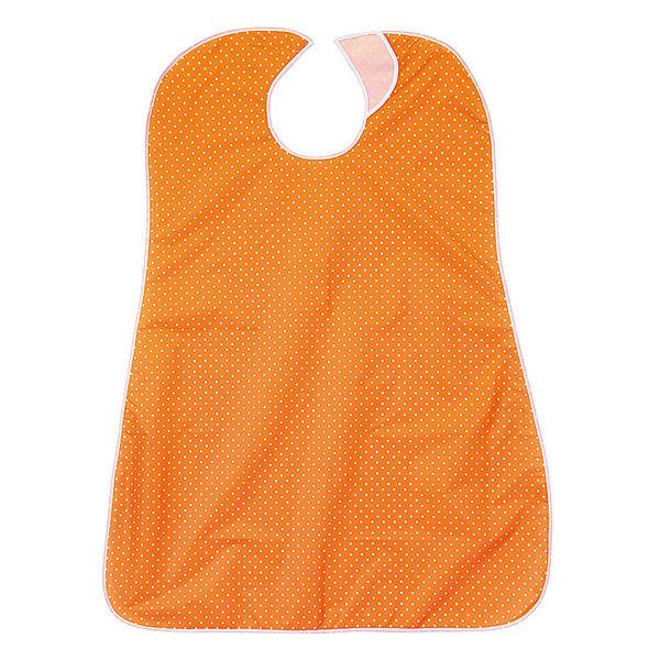 リブドゥコーポレーション 食事用エプロン 水玉柄オレンジ 1枚 92095