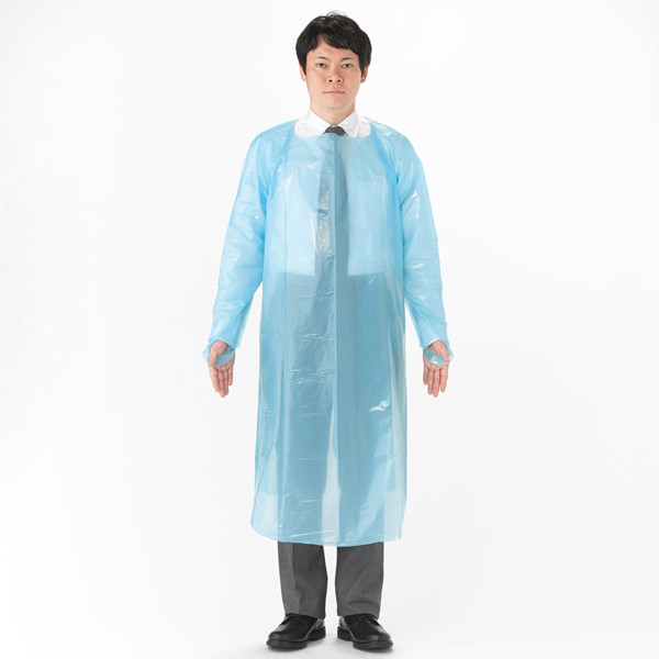 伊藤忠リーテイルリンク 長袖ポリエチレンエプロン PEG-002 1セット(100枚)