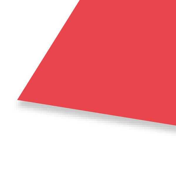 大王製紙 色画用紙 四切 赤 C-21 1セット(50枚:10枚入×5)
