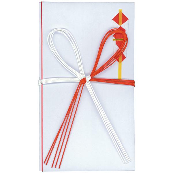 今村紙工 東京折赤白5本花結び 65-511 1セット(20枚:5枚入×4袋)