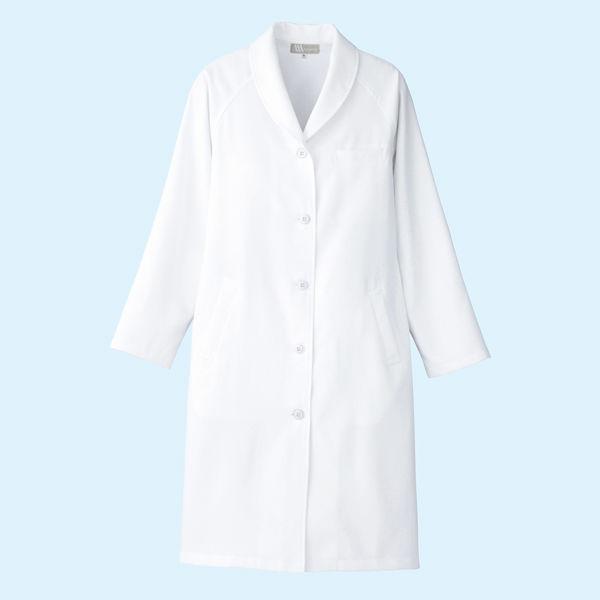 AITOZ(アイトス) レディスドクターコート(診察衣) 長袖 ホワイト シングル S 861312