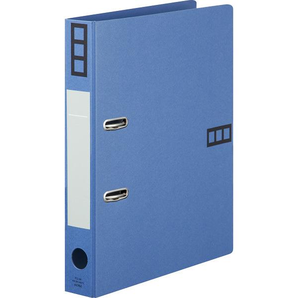 レバー式アーチファイル A4タテ 背幅43mm 10冊 アスクル シブイロ ブルー