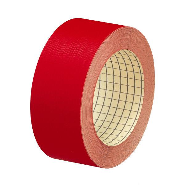 プラス 紙クロステープ 35mm×12m 赤 AT-035JC RD 1袋(2巻入) (直送品)