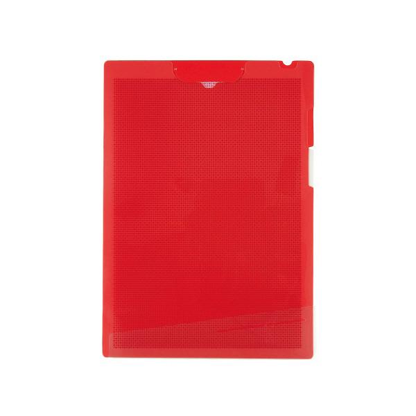 プラス クリップインボードホルダー A4 赤 FL-130CH 1袋(5冊入) (直送品)