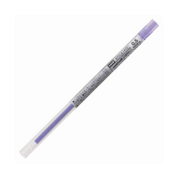 三菱鉛筆(uni) スタイルフィットリフィル芯 シグノインク 0.5mm バイオレット UMR-109-05 3本 (直送品)