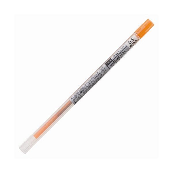 三菱鉛筆(uni) スタイルフィットリフィル芯 シグノインク 0.5mm オレンジ UMR-109-05 3本 (直送品)