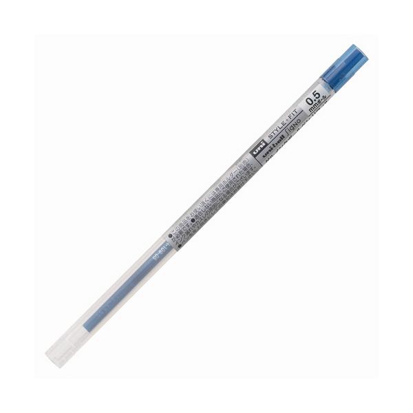 三菱鉛筆(uni) スタイルフィットリフィル芯 シグノインク 0.5mm ブルーブラック UMR-109-05 3本 (直送品)