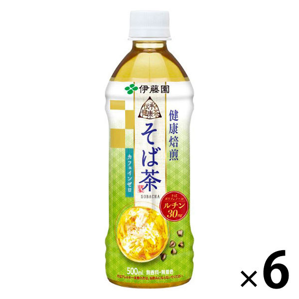 伝承の健康茶 そば茶 500ml 6本