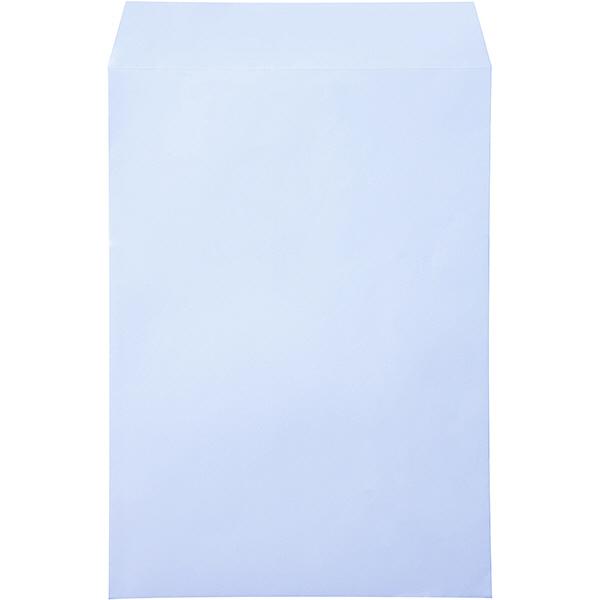ムトウユニパック ナチュラルカラー封筒 角2(A4) アクア テープ付 500枚(100枚×5袋)