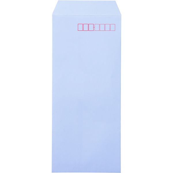 ムトウユニパック ナチュラルカラー封筒 長4 アクア テープ付 1000枚(100枚×10袋)