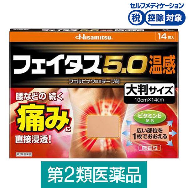 フェイタス5.0温感大判サイズ 14枚