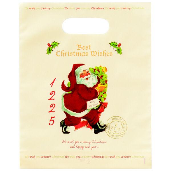 クリスマス 小判抜き手提げ袋 S 10枚