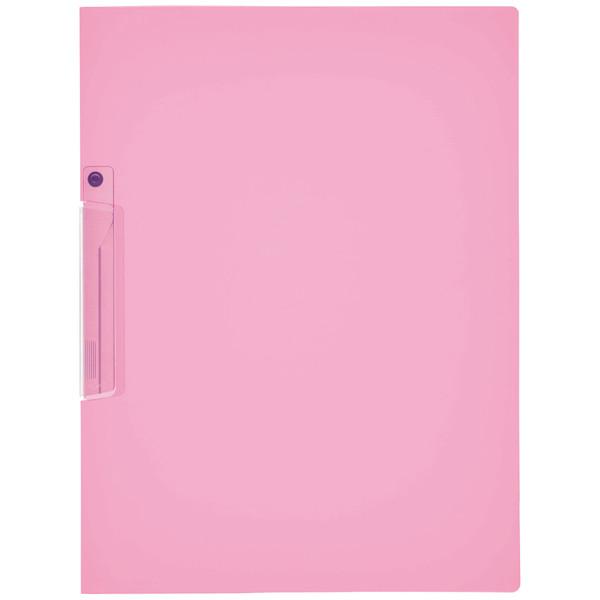 クリップファイル PP表紙 ピンク