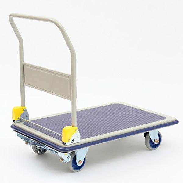 金沢車輌 スチール台車 フットブレーキ付 300kg荷重 NHT-306 1台