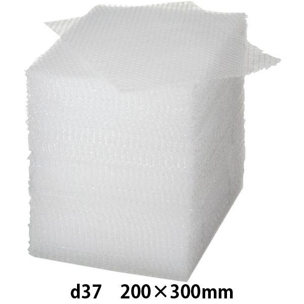 カットタイプ エアークッション d37 200mm×300mm 半透明 1袋(100枚入) 川上産業