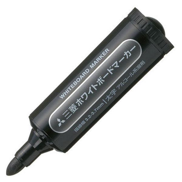 三菱鉛筆(uni) ホワイトボードマーカー 太字丸芯 黒 PWB7M 10本