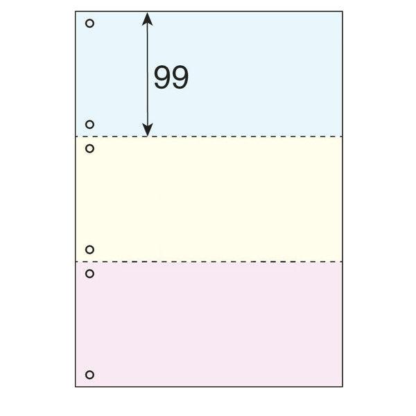 プラス カラーマルチプリンタ用紙3面6穴 TY-236MS-C 1冊(500枚入)