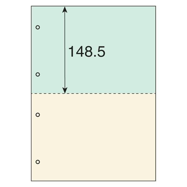【アウトレット】プラス カラーマルチプリンタ用紙2面4穴 TY-224MT-C 1冊(100枚入)
