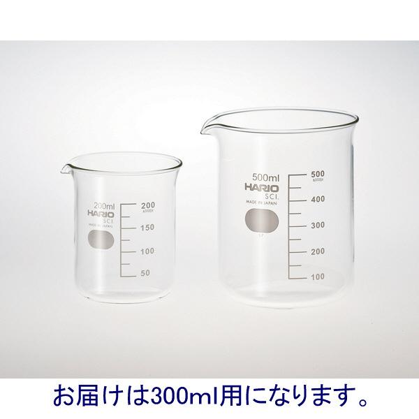 HARIO ビーカー 目安目盛付 300mL 010020-30051A 柴田科学 1箱(24個入)