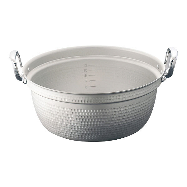 ホクアマイスターアルミ極厚円付鍋60cm