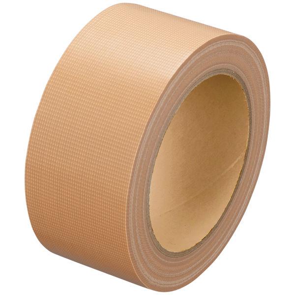 「現場のチカラ」 Monf 手で切りやすい布テープ 0.18mm厚 50mm×25m巻 黄土 1箱(30巻入) 古藤工業