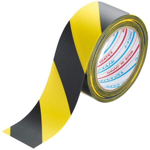ダイヤテックス パイオラン 安全標示テープ カン TT-06-YB 1セット(150巻)