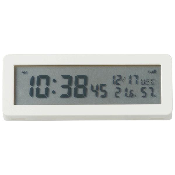 無印良品 デジタル電波時計(大音量アラーム機能付)
