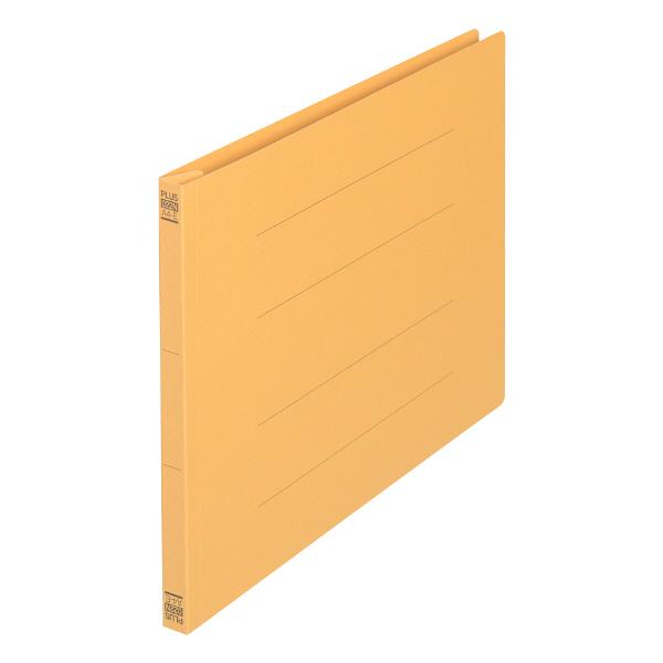 プラス フラットファイル樹脂製とじ具 A4ヨコ イエロー No.022N 30冊