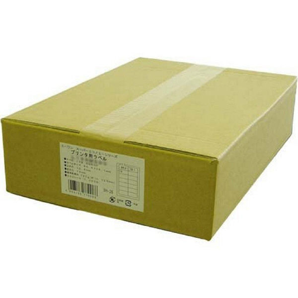 【大容量】 エーワン スーパーエコノミーラベル 表示・宛名ラベル プリンタ兼用 マット紙 白 A4 18面 1箱(500シート入) L18AM500