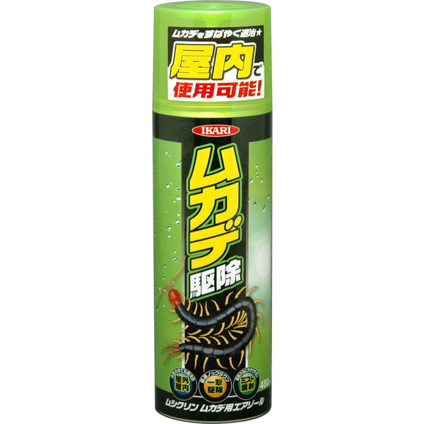 イカリ消毒 ムシクリンムカデ用エアゾール 480ml 245032(直送品)
