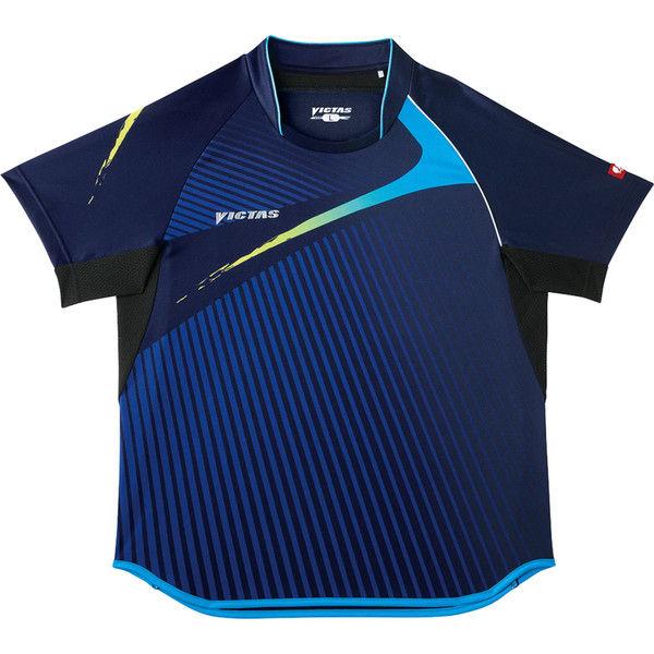 VICTAS(ヴィクタス) V-SW025 ゲームシャツ SS ブルー 1枚 TSP 031455 0100 ヤマト卓球 (取寄品)
