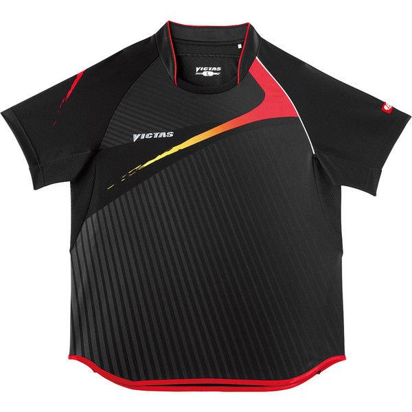 VICTAS(ヴィクタス) V-SW025 ゲームシャツ SS ブラック 1枚 TSP 031455 0020 ヤマト卓球 (取寄品)