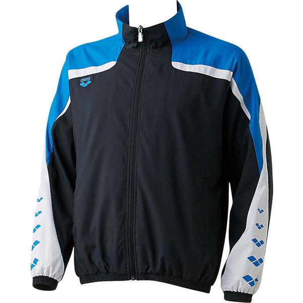 アリーナ ウィンドジャケット L ブラック/ブルー 1着 DS ARN6310 BKBU デサント(取寄品)