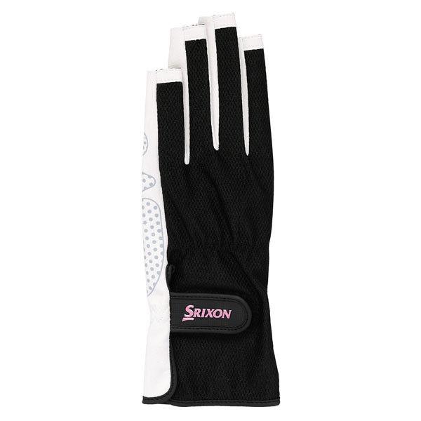 SRIXON(スリクソン) レディース シリコンプリントグローブ ネイルスルータイプ(両手セット) L ブラック 1セット (取寄品)