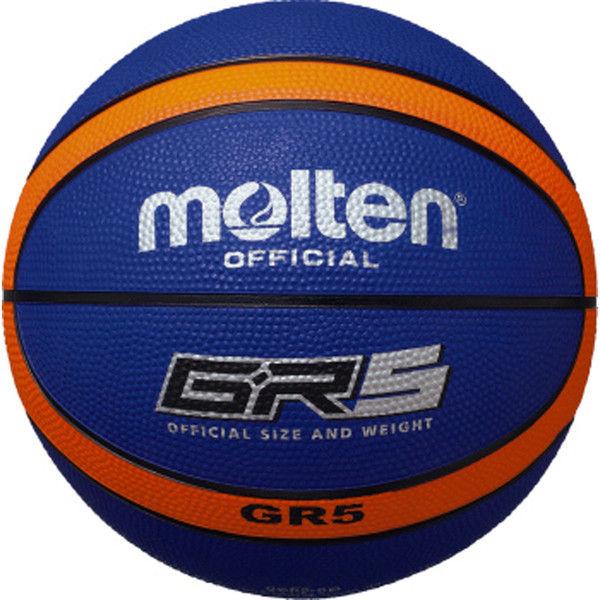 GR5 ゴムバスケットボール 5号球 ブルー×オレンジ  0 1球 MT BGR5BO モルテン(取寄品)