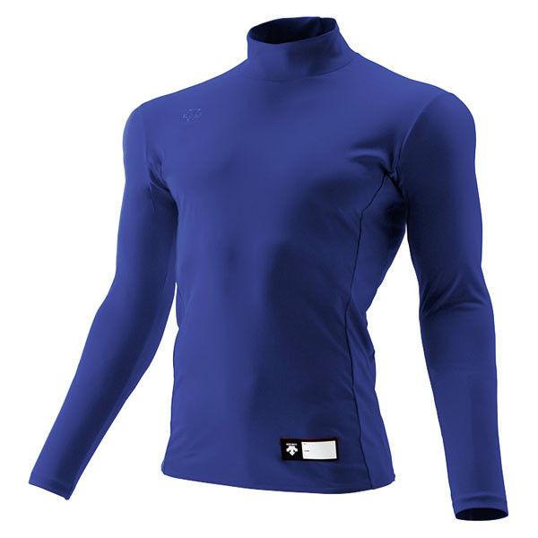 ジュニア ハイネック長袖リラックスFITシャツ 160 ロイヤル 1枚 DS JSTD750 ROY デサント(取寄品)