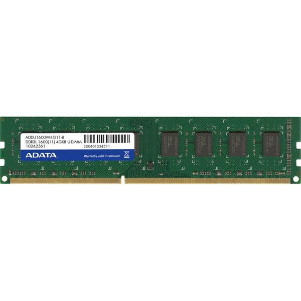 ADATA メモリ 4GB DDR3 UーDIMM (1600) ー512x8 リテールパッケージ AD3U1600W4G11-R 1箱  (直送品)