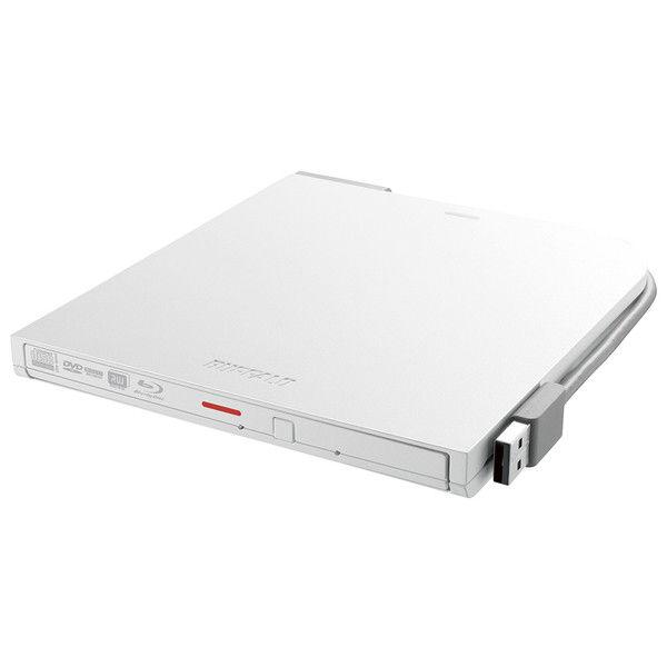 バッファロー BDXL対応 USB2.0用ポータブルブルーレイドライブ スリムタイプ ホワイト BRXL-PT6U2V-WHD 1台  (直送品)