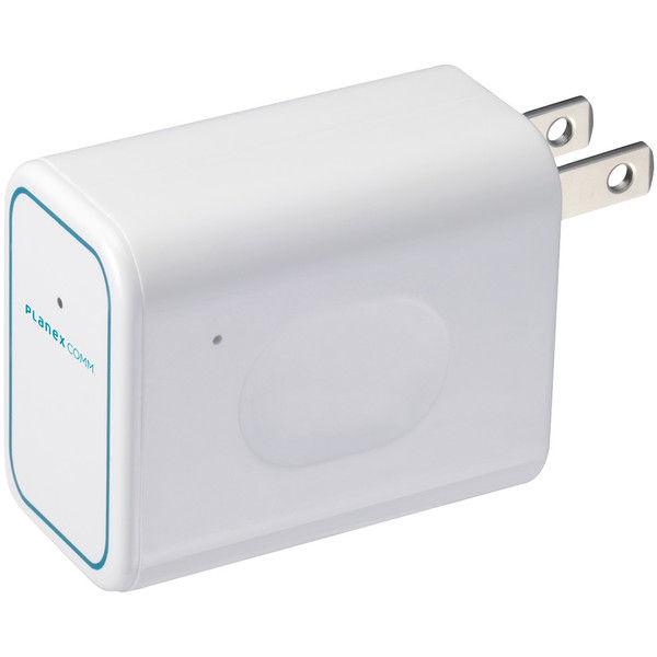 プラネックスコミュニケーションズ 11n/g/b対応 コンセント直挿型 トラベル無線LANルータ 「ちびファイ3」 MZK-DP150N 1本(直送品)