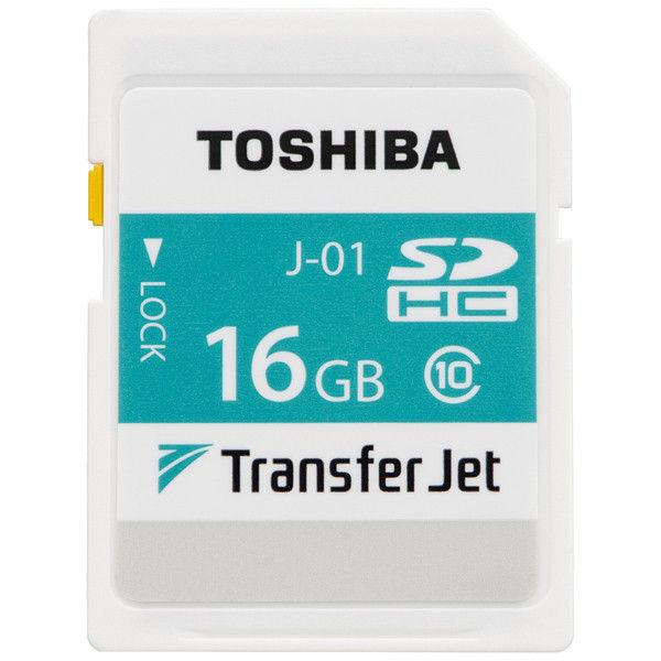 東芝 TransferJet搭載 SDHCメモリカード 16GB SD-TJA016G 1個  (直送品)