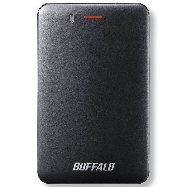 バッファロー 耐振動・耐衝撃 省電力設計 USB3.1(Gen1)対応 小型ポータブルSSD 480GB ブラック SSD-PM480U3A-B  (直送品)