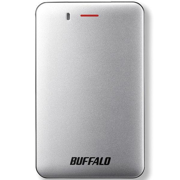 バッファロー 耐振動・耐衝撃 省電力設計 USB3.1(Gen1)対応 小型ポータブルSSD 480GB シルバー SSD-PM480U3A-S  (直送品)
