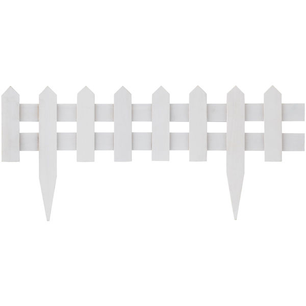 タカショー 花壇フェンス 600 ホワイト 10枚組 FBF-600W/10S (直送品)
