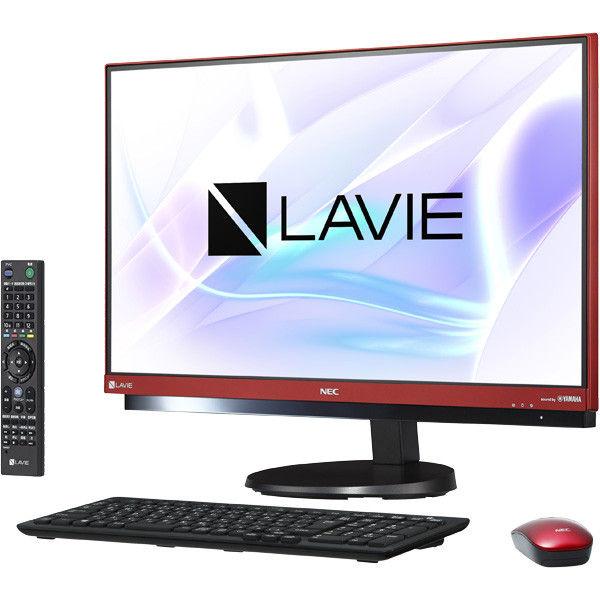 NECパーソナルコンピュータ LAVIE Desk Allーinーone ー DA770/HAR ラズベリーレッド PC-DA770HAR 1台  (直送品)