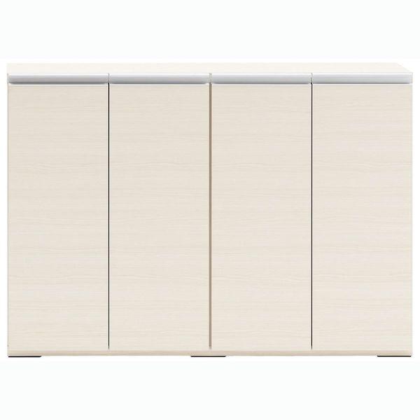 フナモコ LIVING&COUNTER(薄型リビングカウンター下収納) ホワイトウッド 幅1202×奥行310 ...