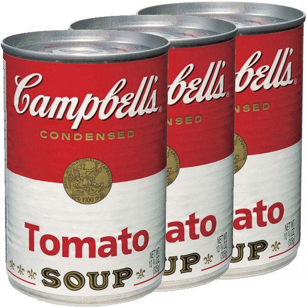 キャンベル 英語ラベル トマトスープ3缶
