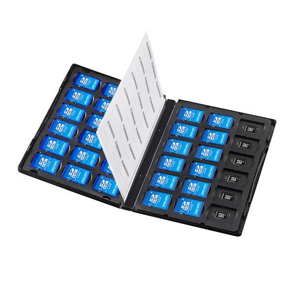 サンワサプライ DVDトールケース型メモリーカード管理ケース(SDカード、microSDカード用) FC-MMC25SDM 1個 (直送品)